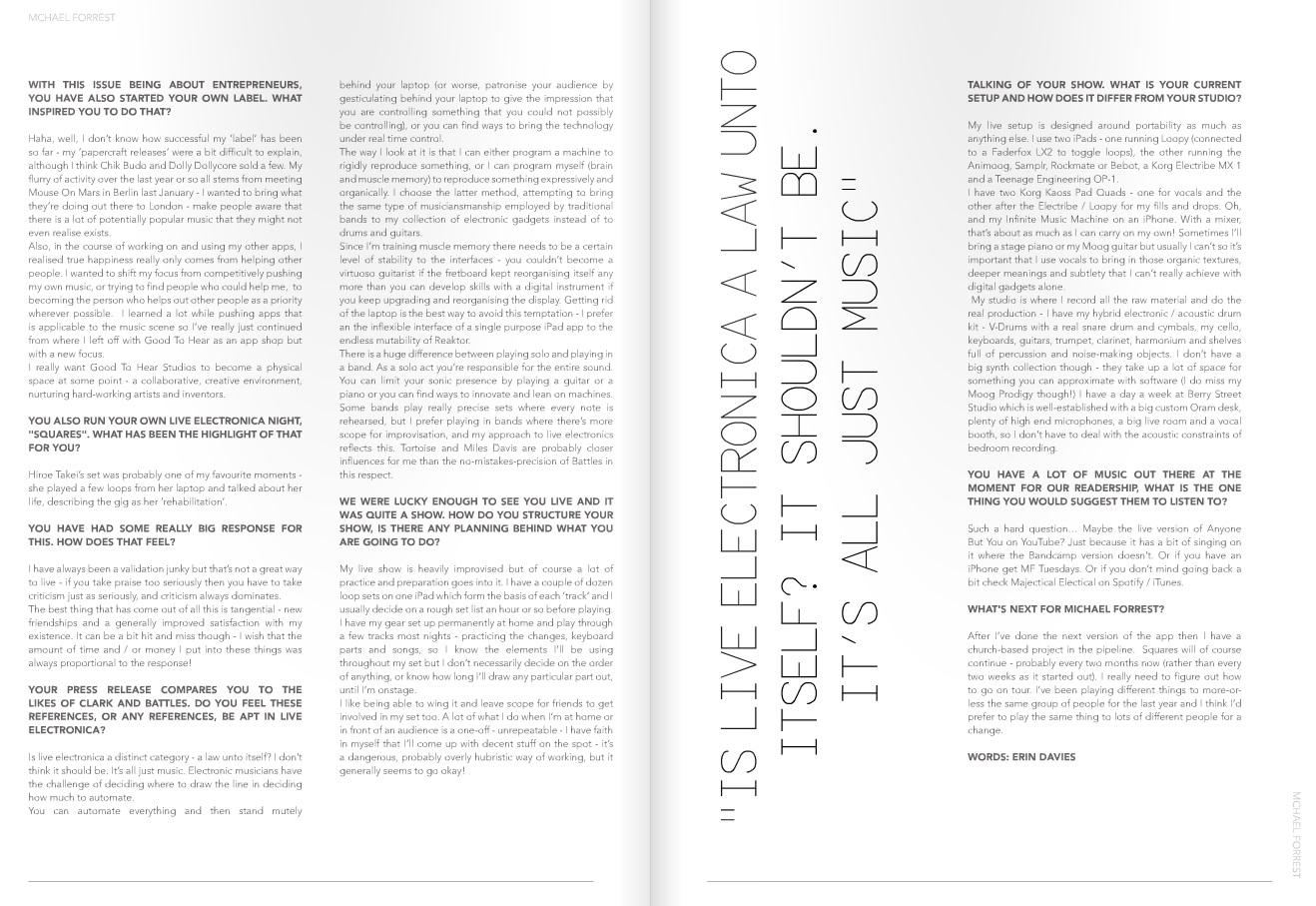 Interview in Noctis Magazine